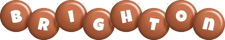 Brighton candy-brown logo