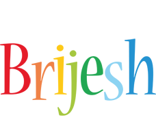 Brijesh birthday logo