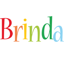 Brinda birthday logo