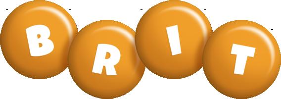Brit candy-orange logo