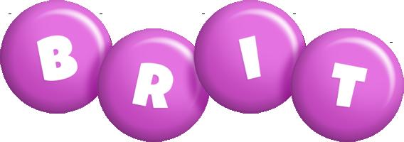 Brit candy-purple logo