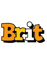 Brit cartoon logo