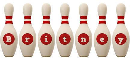 Britney bowling-pin logo