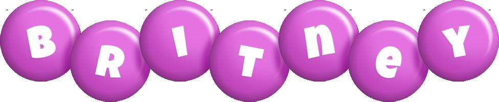 Britney candy-purple logo