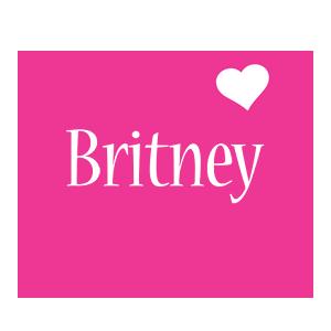 Britney love-heart logo