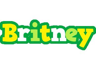 Britney soccer logo