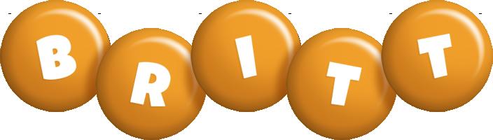Britt candy-orange logo