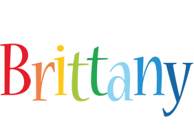 Brittany birthday logo