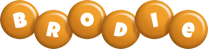 Brodie candy-orange logo