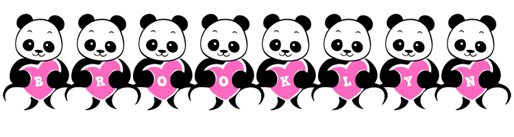 Brooklyn love-panda logo