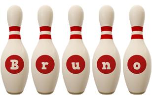 Bruno bowling-pin logo