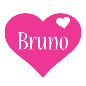 Bruno love-heart logo