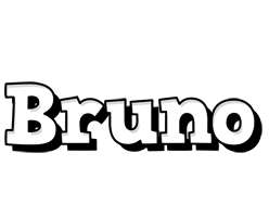 Bruno snowing logo