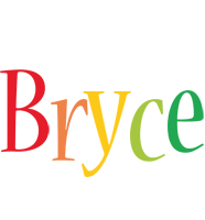 Bryce birthday logo