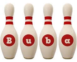 Buba bowling-pin logo