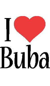Buba i-love logo