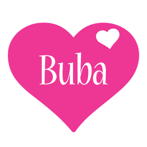 Buba love-heart logo