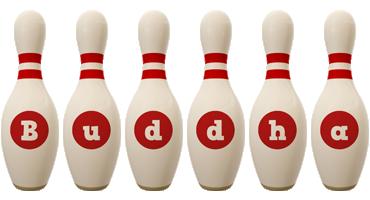 Buddha bowling-pin logo