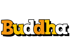 Buddha cartoon logo