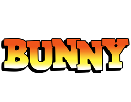 Bunny sunset logo