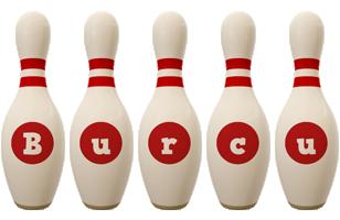 Burcu bowling-pin logo
