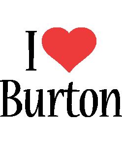Burton i-love logo