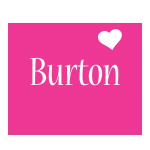 Burton love-heart logo