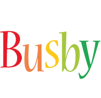 Busby birthday logo