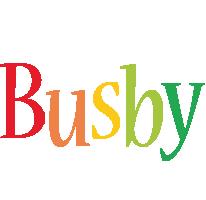 Busby birthday logo