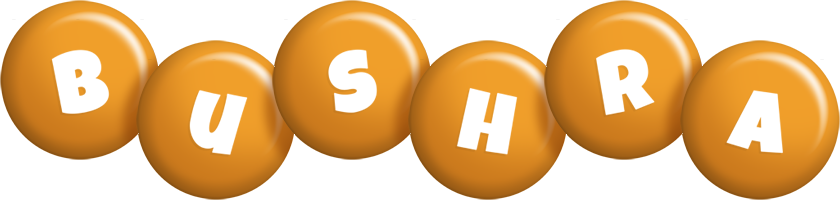 Bushra candy-orange logo
