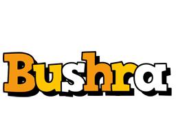 Bushra cartoon logo