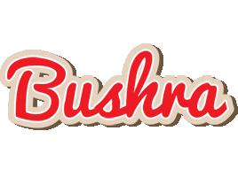 Bushra chocolate logo