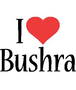 Bushra i-love logo
