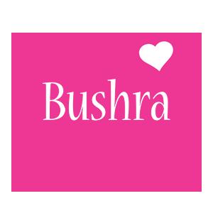 Bushra love-heart logo