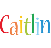 Caitlin birthday logo