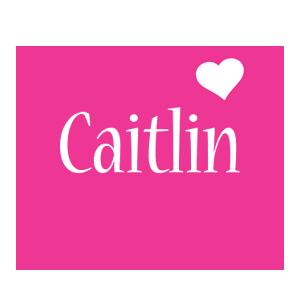 Caitlin love-heart logo