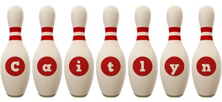 Caitlyn bowling-pin logo