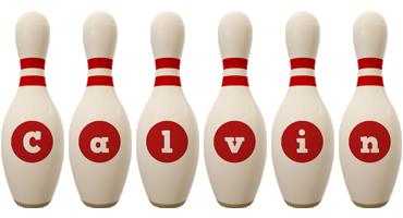 Calvin bowling-pin logo