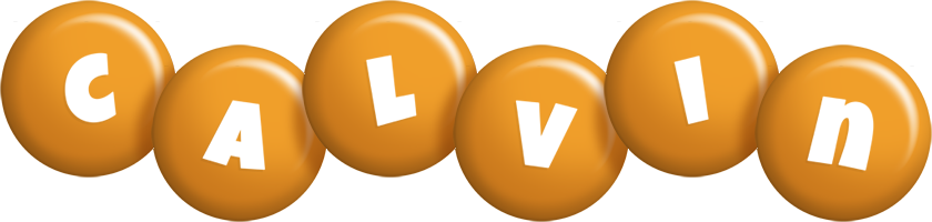 Calvin candy-orange logo
