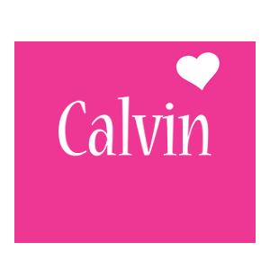 Calvin love-heart logo