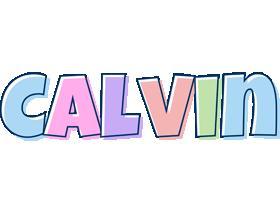 Calvin pastel logo
