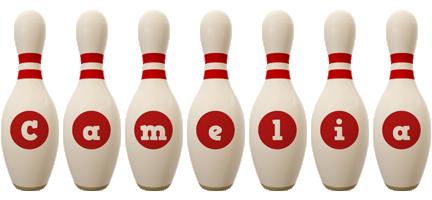 Camelia bowling-pin logo