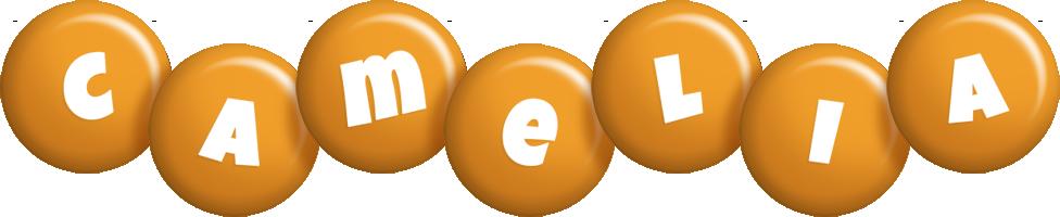 Camelia candy-orange logo