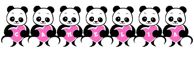 Camelia love-panda logo