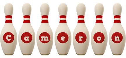 Cameron bowling-pin logo