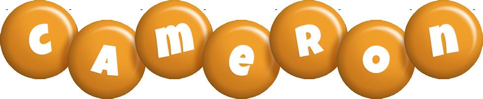 Cameron candy-orange logo