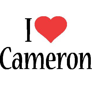 Cameron i-love logo