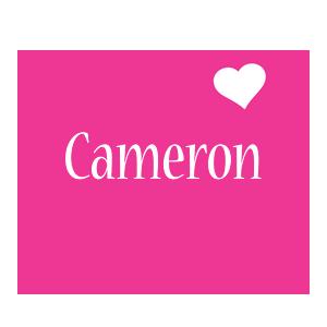 Cameron love-heart logo