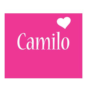 Camilo love-heart logo