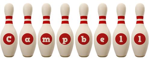 Campbell bowling-pin logo